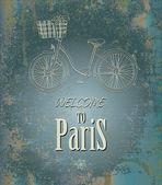 Welcome to Paris — Stock Vector