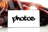Photos - business card for photographer — Stock Photo