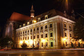 Institute of Polish Philology at night, University of Wroclaw, Poland — 图库照片
