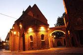St. Idzi Church, Cathedral Island (Ostrow Tumski) at night, Wroclaw, Poland — Stock Photo