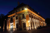 Pastoral Center of the Archdiocese of Wroclaw, Cathedral Island (Ostrow Tumski) at night, Poland — Stock Photo