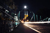 Tumski Bridge at night, Wroclaw, Poland — Stock Photo
