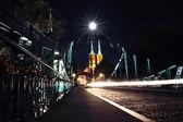 Tumski Bridge at night, Wroclaw, Poland — Stock Photo