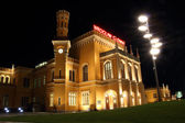 Main Railway Station in Wroclaw at night, Poland — Stock Photo