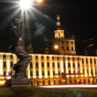 University of Wroclaw at night, Poland — ストック写真