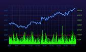 Stock chart — Stock Photo