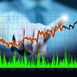 Businessman hand touch virtual stock graph, chart, diagram — Stock Photo #18724611