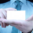 Business card with copy space — Stock Photo