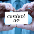 Contact us - business card — Stock Photo