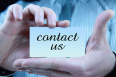 Contact us - business card — Foto Stock