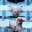 Stock Photo: Business cards compilation