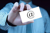 Contact - business card — Stock Photo
