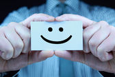 Smile - business card — Stock Photo