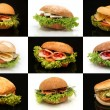 Sandwich compilation — Stock Photo