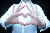 Hands in the form of heart — Stock Photo