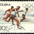 POLAND - CIRCA 1967 A Stamp printed in the Poland show the olympic games, circa 1967 - Stock Photo