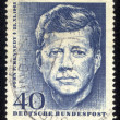 UNITED STATES OF AMERICA - CIRCA 1964 a stamp printed in the Germany shows John F. Kennedy, 35th President of USA 1961-1963, circa 1964 - Stock Photo