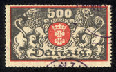 DANZIG - CIRCA 1923 A postage Stamp printing in Free City of Danzig (later Germany, now Gdansk, Poland) shows coat of arms of city, circa 1923 — Stock Photo