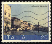ITALY - CIRCA 1973 stamp printed by Italy, shows Schiavone Shore, circa 1973 kopia — Stock Photo