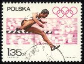 Polen - gedruckt ca. 1967 einen stempel in der polen-show der olympischen spiele, ca. 1967 — Stockfoto