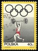 Polska - ok. 1969 po znaczek wydrukowany w polsce pokazuje waga kifter, serii, ok. 1969 — Zdjęcie stockowe
