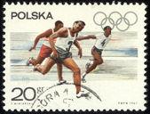 Polsko - cca 1967 razítkem, vytištěno v Polsku ukazují olympijských her, cca 1967 — Stock fotografie
