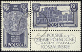 POLAND - CIRCA 1961: A stamp printed in POLAND, shows Polish Northern Territories, circa 1961. — Stock fotografie