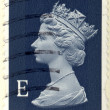 Foto Stock: UNITED KINGDOM - CIRC2000 to 2003 English Used First Class Postage Stamp showing Portrait of Queen Elizabeth 2nd, circ2000 to 2003