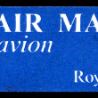 Stock Photo: By air mail - par avion (international mail tag set) stamp sheet