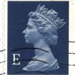 UNITED KINGDOM - CIRCA 2000 to 2003 An English Used First Class Postage Stamp showing Portrait of Queen Elizabeth 2nd, circa 2000 to 2003 — Stock Photo #21629661