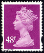 UNITED KINGDOM - CIRCA 1993 to 2007 An English Used Postage Stamp showing Portrait of Queen Elizabeth 2nd, circa 1993 to 2007 — Stock Photo