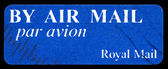 By air mail - par avion (international mail tag set) stamp sheet — Stock Photo
