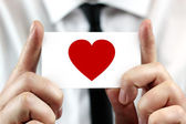 Heart - business card — Stock Photo