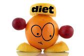 Diet helper. Funny fruit. — Stock Photo