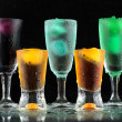 Stock Photo: Fresh drink on black background