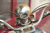 Old Motorcycle, partial view with rusty handlebars — Stock Photo
