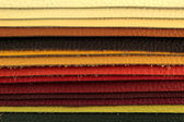 Color palette sample picker of leather material — Stock Photo