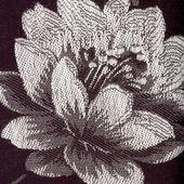Textura de la tela con flores — Foto de Stock