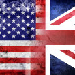 Grunge USA and UK flag — Stock Photo #30625699