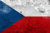Grunge Flag of Czech Republic — Stock Photo