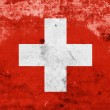 Grunge Switzerland Flag — Stock Photo