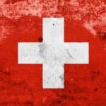 Grunge Switzerland Flag — Stock Photo