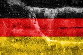 Niemcy flaga namalowane na ścianie grunge — Zdjęcie stockowe