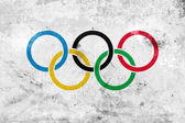 Grunge Olympic Flag — Stock Photo