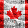 Canada Flag painted on grunge wall — Stock Photo