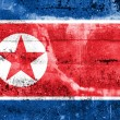 North Korea Flag painted on grunge wall — Stock Photo