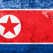 Bandeira da Coreia do norte de grunge — Foto Stock