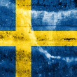 Sweden Flag painted on grunge wall — Stock Photo #31146301
