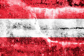 Austria Flag painted on grunge wall — Stock Photo