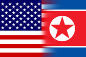 USA and North Korea Flag — Stock Photo